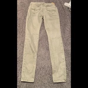 Abercrombie & fitch green skinny jeans 25
